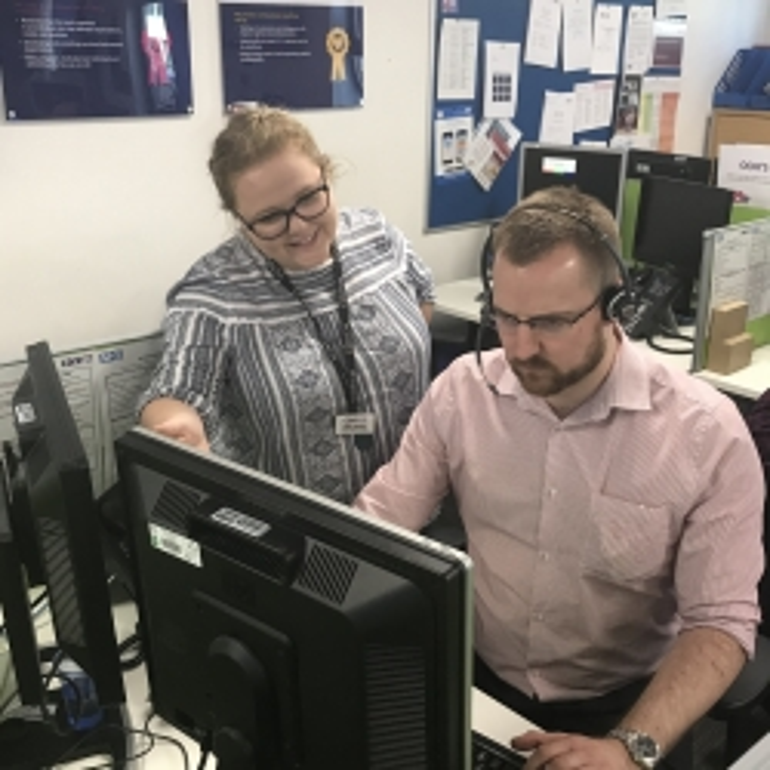 Daisy Hendry and colleague
