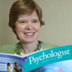 clinical psychologist with magazine