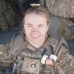 Hannah Storer in RAF reserves uniform