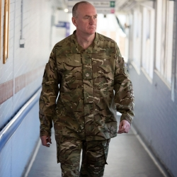 Malcolm Sperrin in army reserves uniform