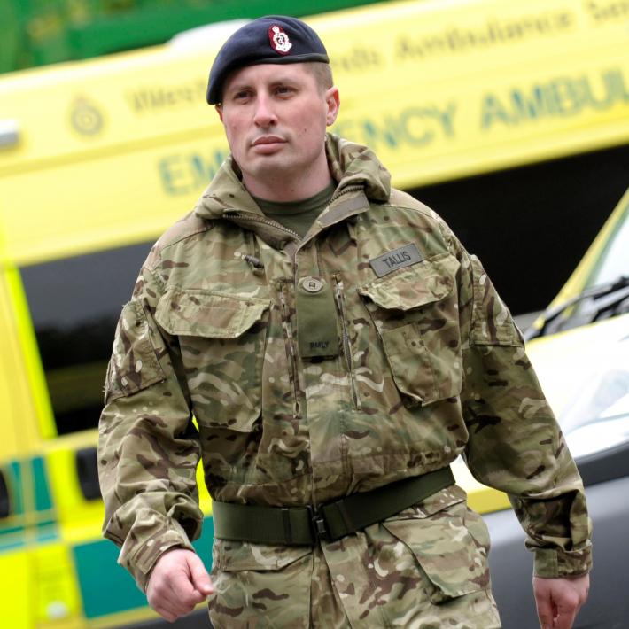 Malcolm Tallis in reservist uniform