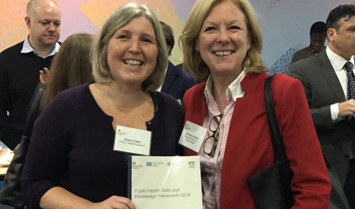 Claire Cotter and Shirley Cramer at PHSKF launch