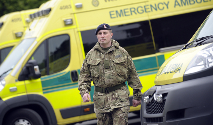 Armed forces paramedic