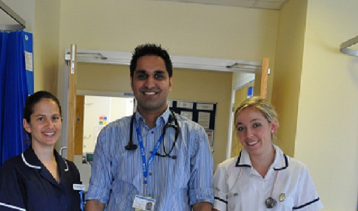 Doctor and two nurses