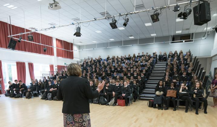 A school assembly