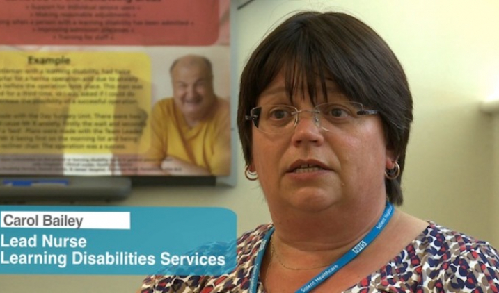 Learning disability nurse talking to camera