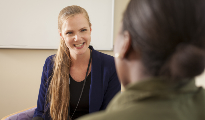 Female psychologist smiling