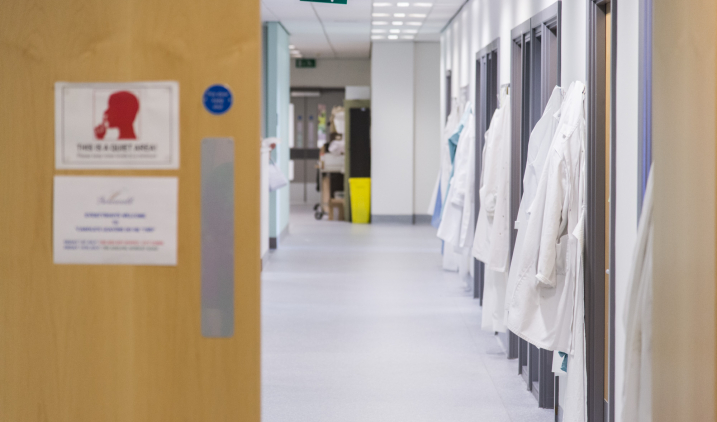 White coats hanging up