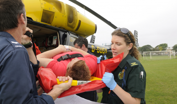 Female-senior-paramedic-with-air-ambulance-crew