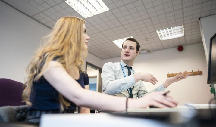 health informatics man and woman