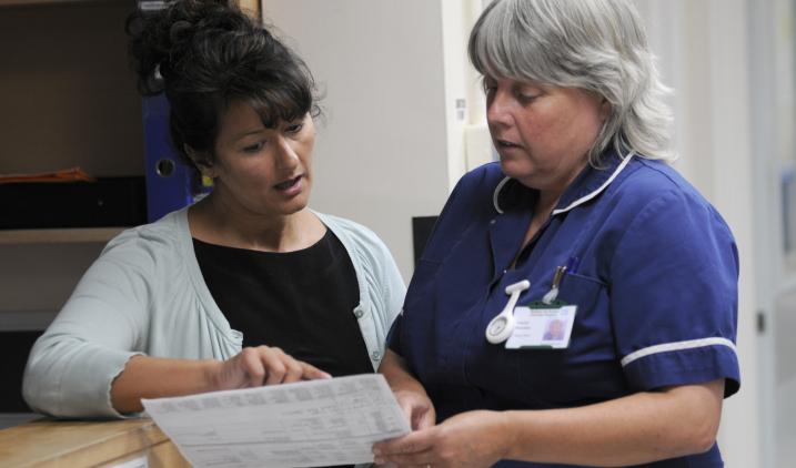 public health nurse with client