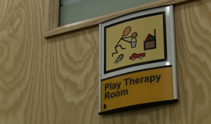 play therapy room sign