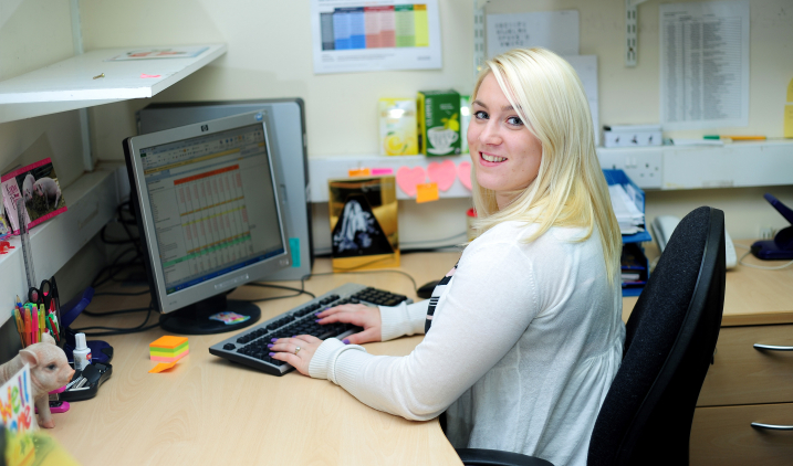 nhs worker at desk