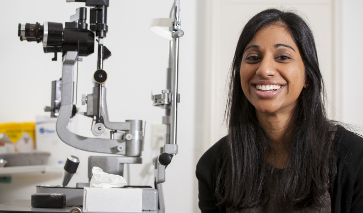 Ophthalmologist doctor smiling