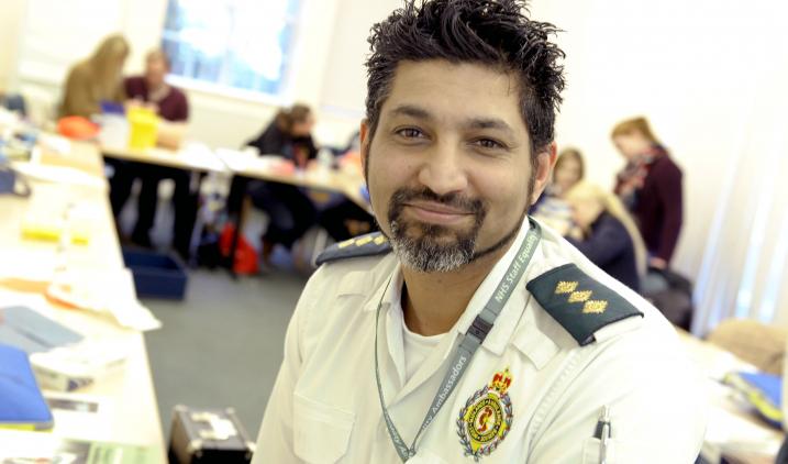 paramedic smiling to camera