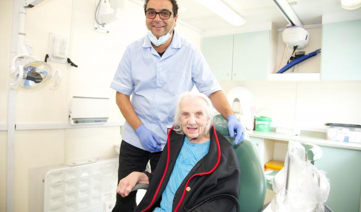Public health - dentist with patient