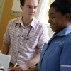 Ward doctor and nurse