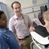 doctor and nurses on ward